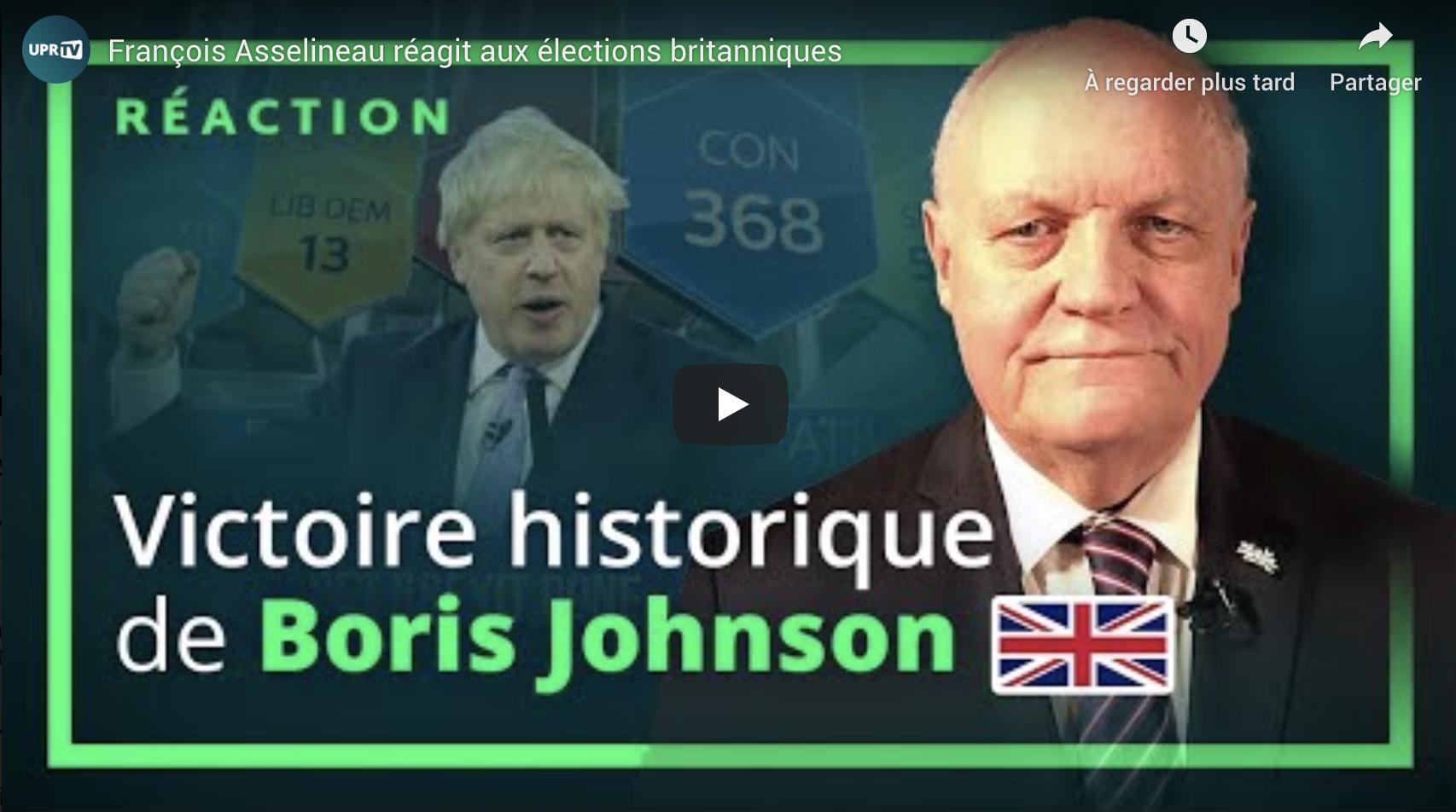 François Asselineau réagit aux élections britanniques (VIDÉO)