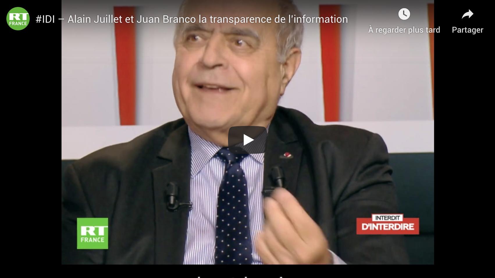 Alain Juillet, ancien directeur du renseignement de la DGSE : « Je n'ai pas envie de voir mon pays basculer dans la dictature par un excès de transparence » (VIDÉO)