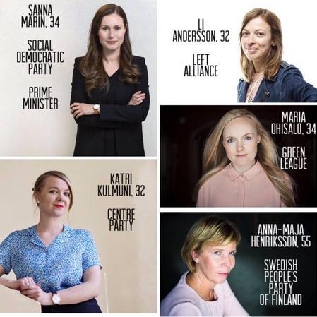 Finlande : tous les grands partis sont dirigés par des femmes