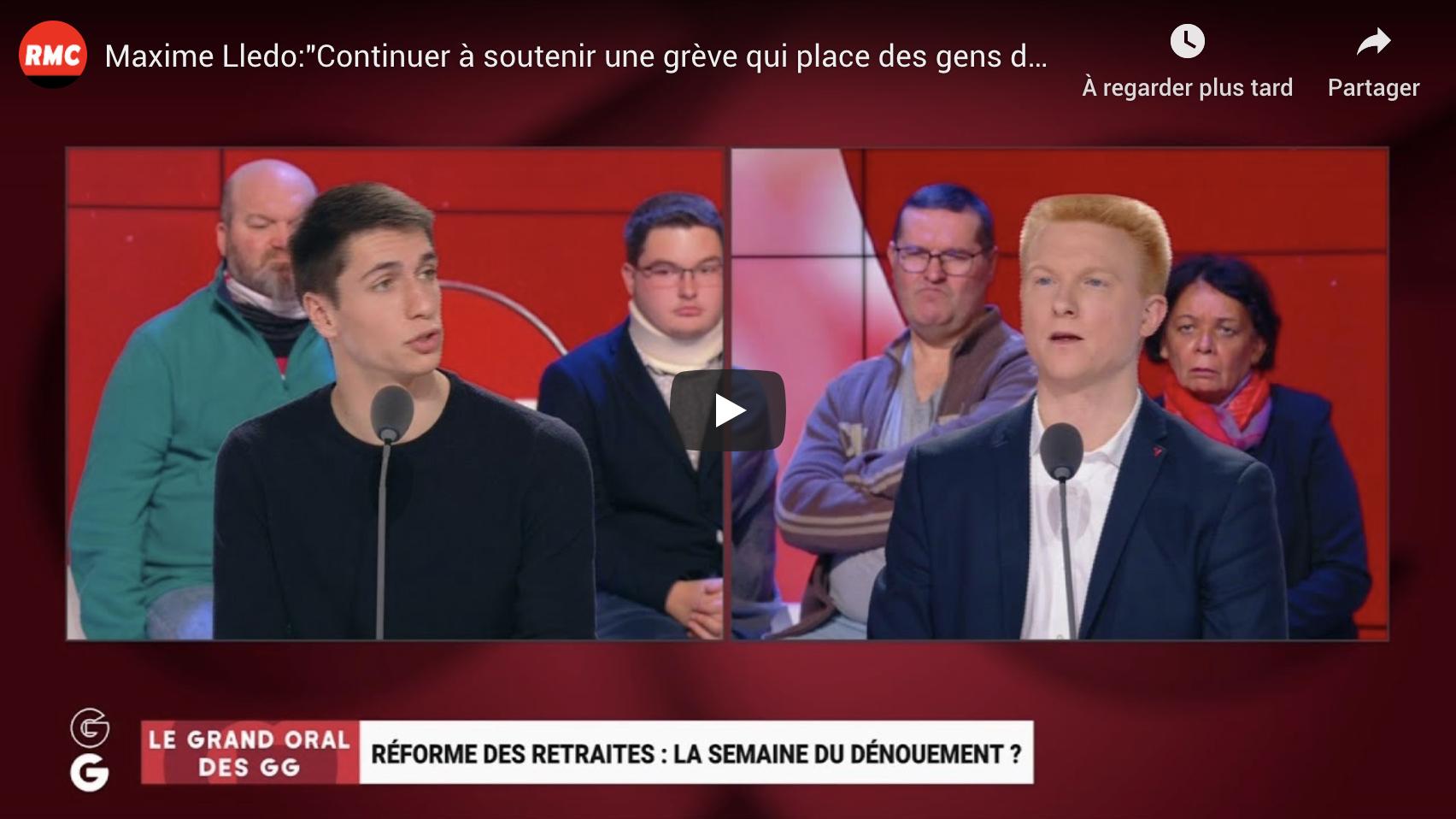 """Maxime Lledo : """"Continuer à soutenir une grève qui place des gens dans la précarité, ça m'interpelle !"""" (VIDÉO)"""