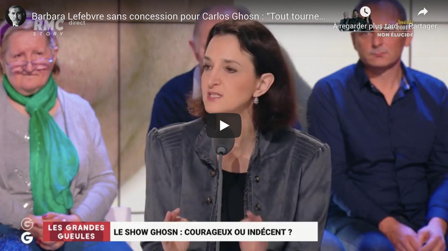 """Barbara Lefebvre sans concession pour Carlos Ghosn : """"Tout tourne autour de lui, et les autres ?"""" (VIDÉO)"""