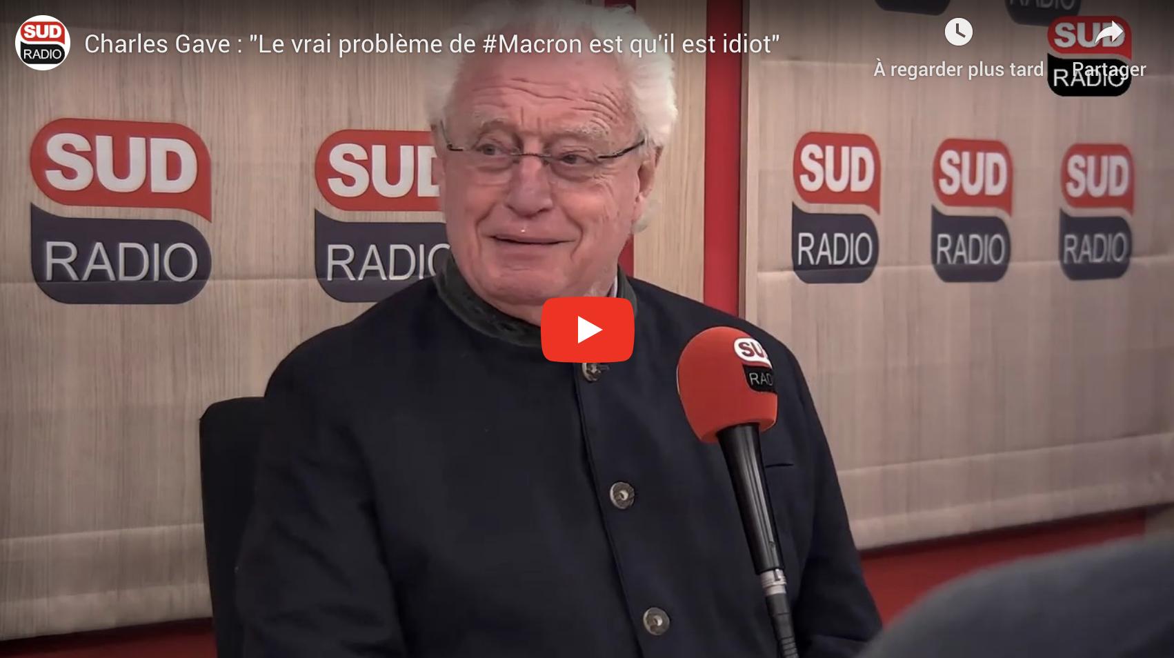 """Charles Gave : """"Le vrai problème de Macron est qu'il est idiot"""" (VIDÉO)"""