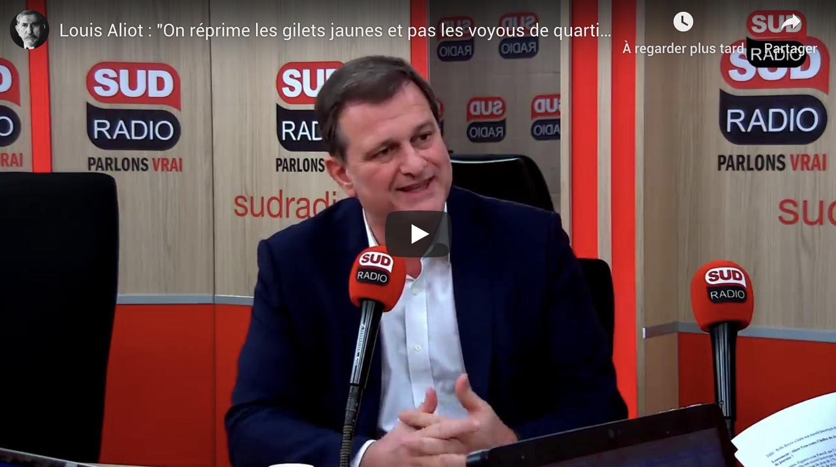 """Louis Aliot : """"On réprime les Gilets Jaunes et pas les voyous de quartier"""" (VIDÉO)"""