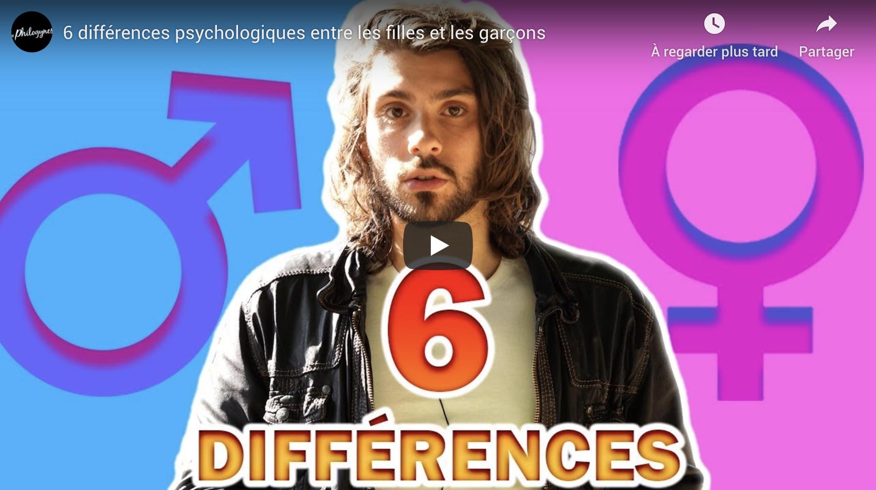 6 différences psychologiques entre les filles et les garçons (Les Philogynes)