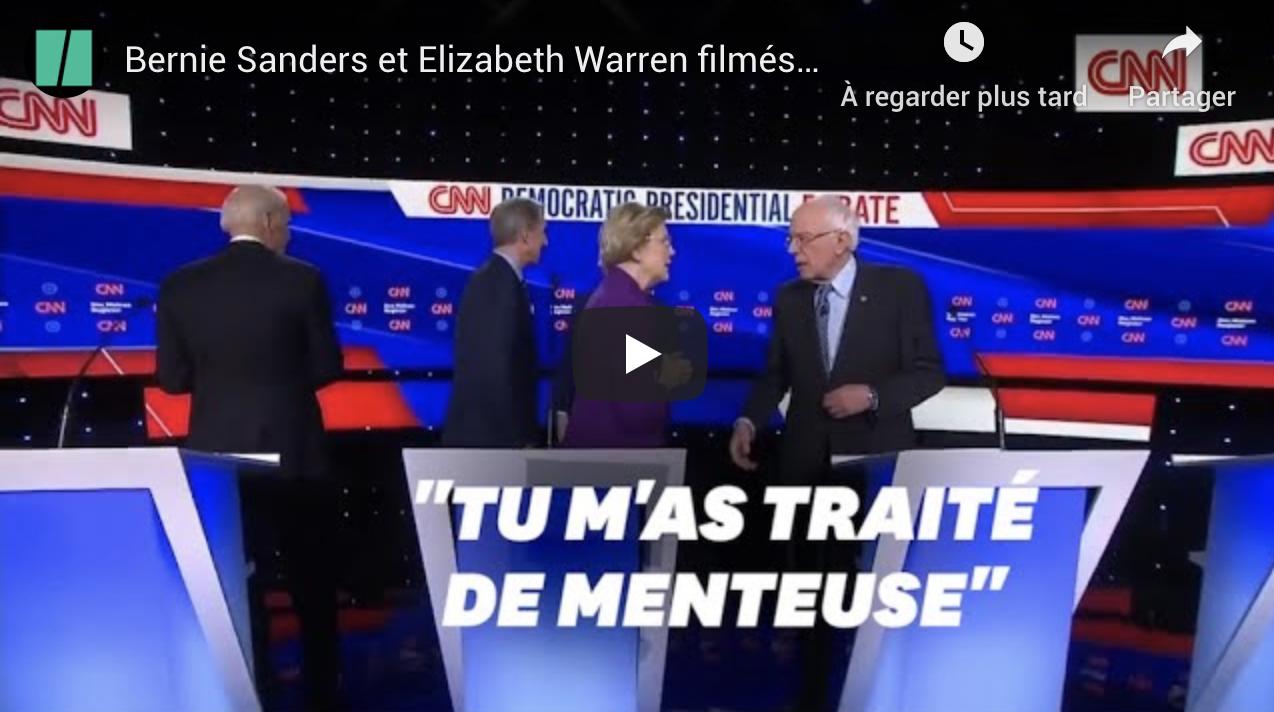 Bernie Sanders et Elizabeth Warren filmés en train de se traiter de menteurs (VIDÉO)