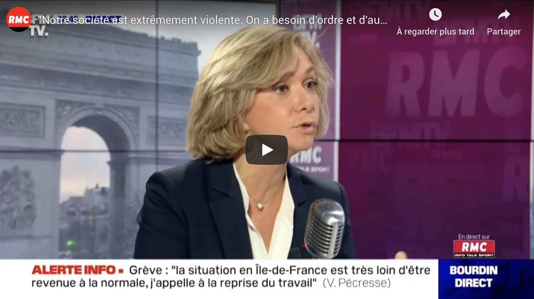 """Valérie Pécresse : """"Notre société est extrêmement violente. On a besoin d'ordre et d'autorité"""""""
