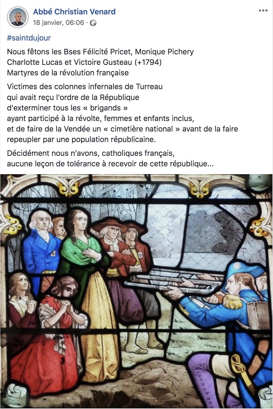 Nous n'avons, catholiques français, aucune leçon de tolérance à recevoir de la République