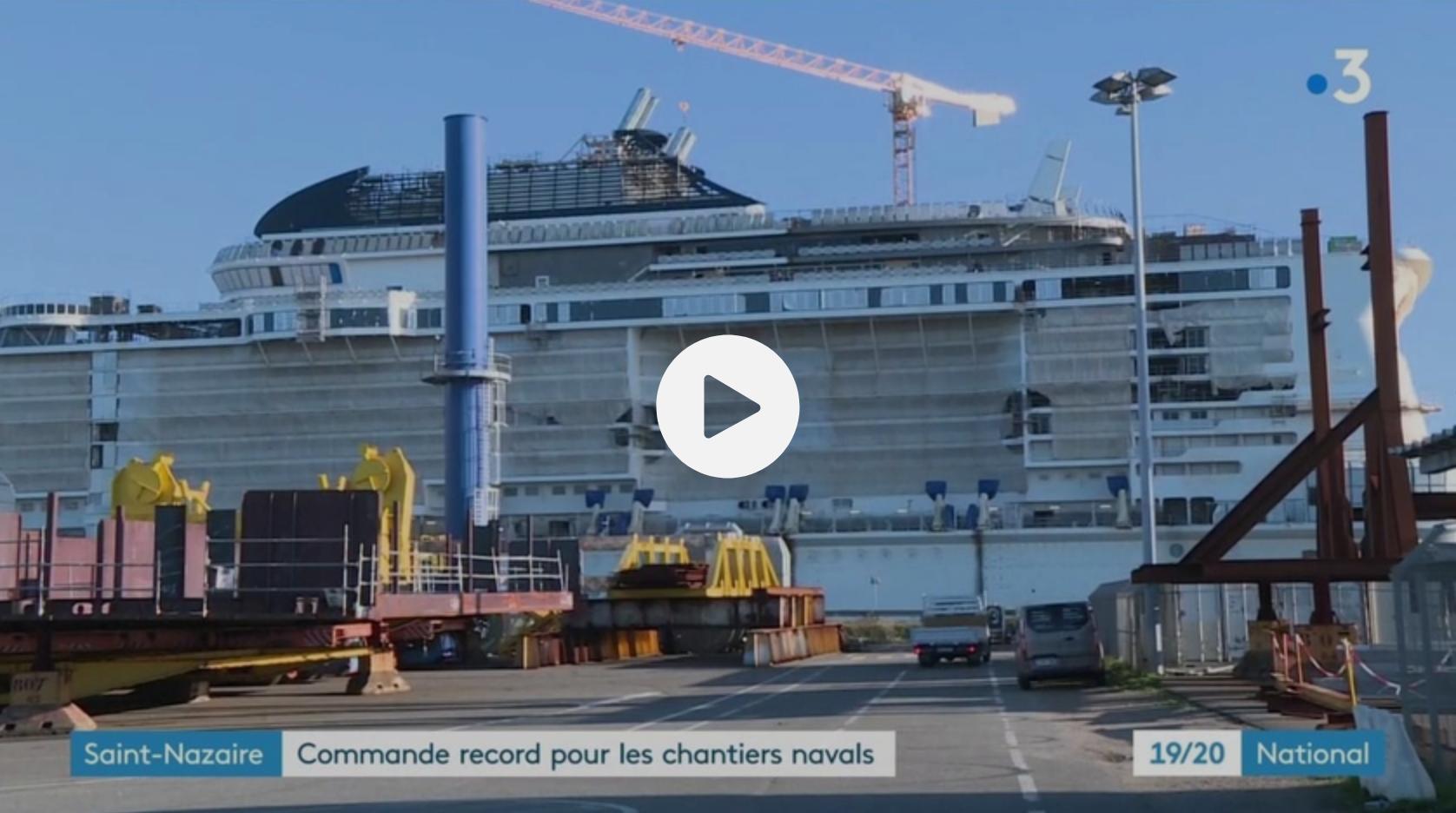 Saint-Nazaire : commande record pour les chantiers navals