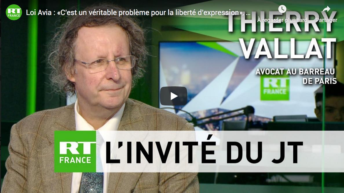 Loi Avia : « C'est un véritable problème pour la liberté d'expression » (Thierry Vallat)