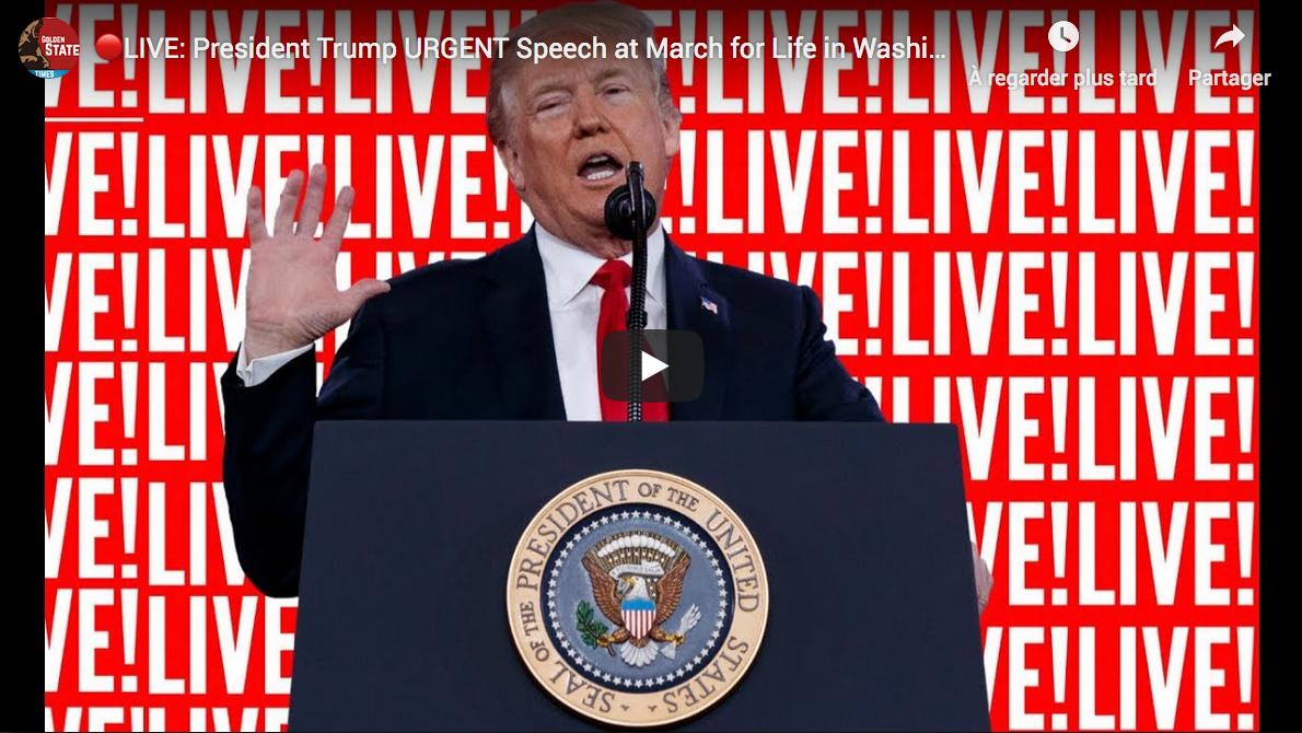 Première historique : Donald Trump assistera à la March for Life du 24 janvier à DC !