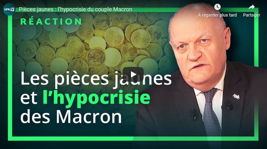 Pièces jaunes : l'hypocrisie du couple Macron (François Asselineau)