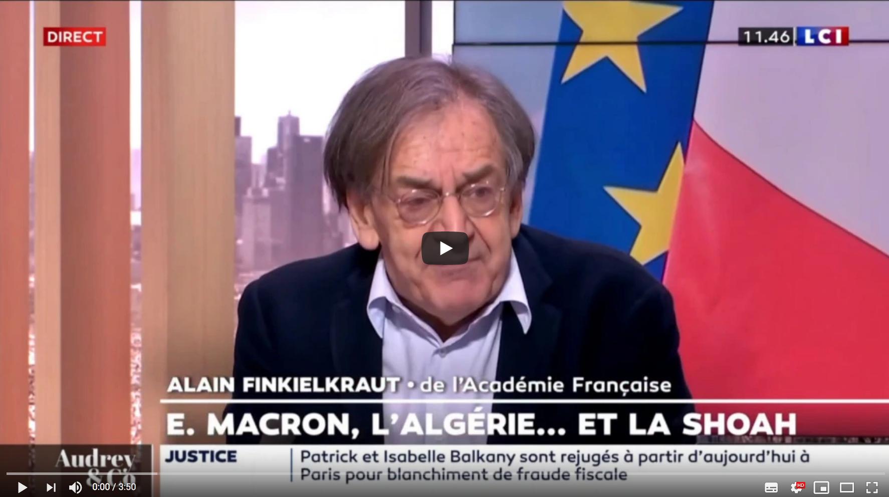 Alain Finkielkraut : après le choc des idéologies au XXe siècle, le choc des civilisations au XXIe (VIDÉO)