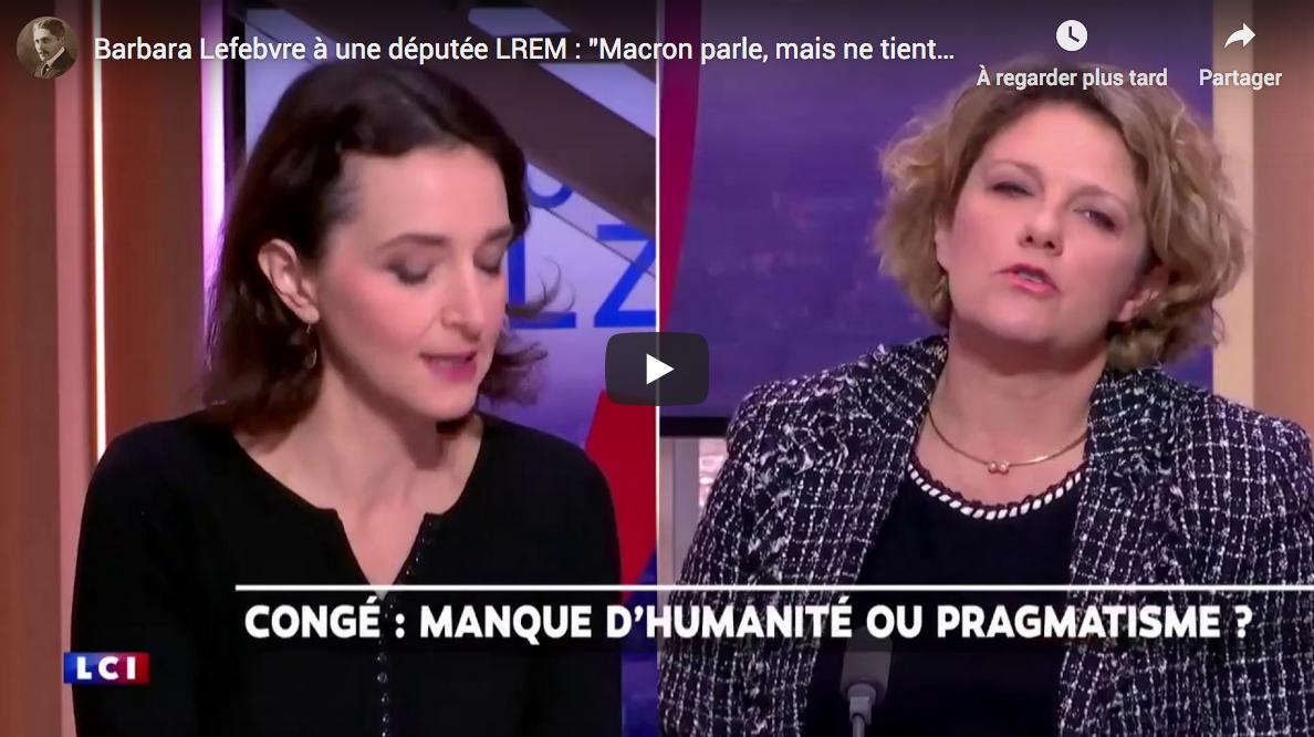 """Barbara Lefebvre à une députée LREM : """"Macron parle, mais ne tient pas ses promesses !"""" (VIDÉO)"""