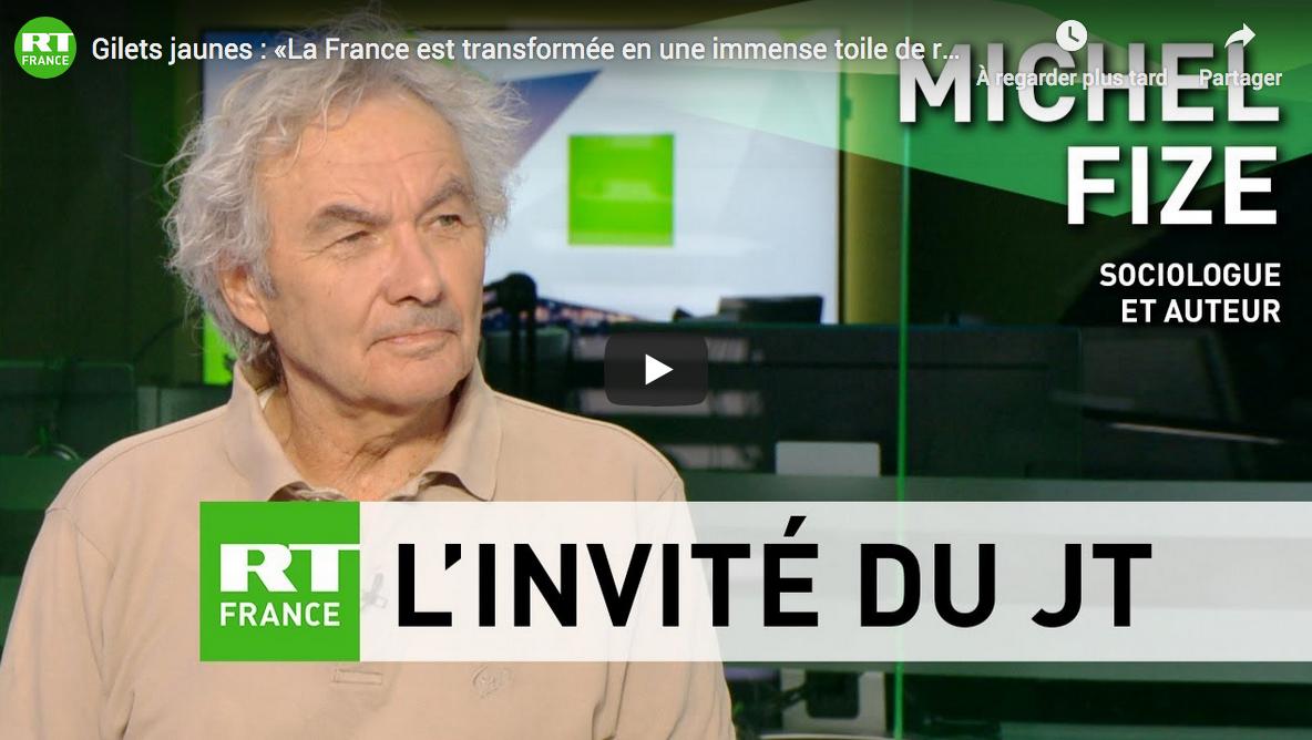 Gilets jaunes : « La France est transformée en une immense toile de révoltes », estime Michel Fize (VIDÉO)