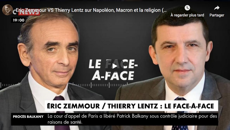 Napoléon, Macron et la religion : Éric Zemmour VS Thierry Lentz (DÉBAT)