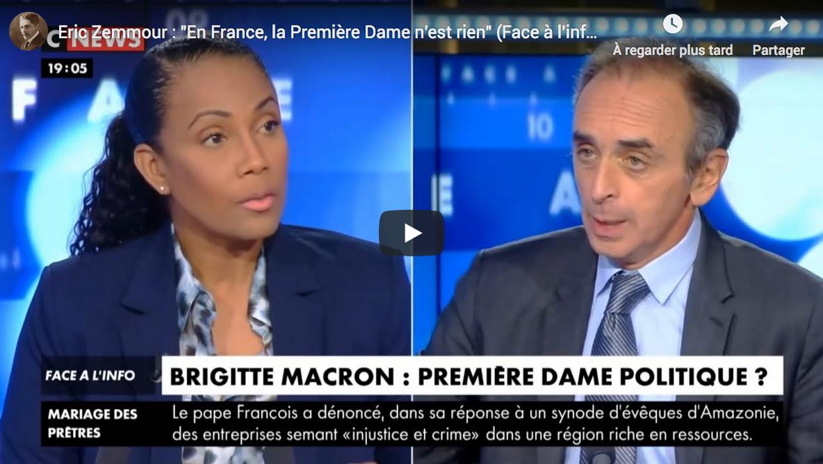 """Éric Zemmour : """"En France, la Première Dame n'est rien"""" (VIDÉO)"""
