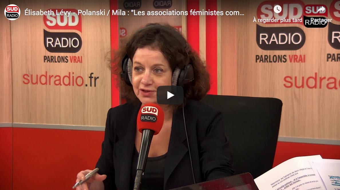 """Élisabeth Lévy sur les affaires Polanski et Mila : """"Les associations féministes commencent à me courir le haricot !"""" (VIDÉO)"""