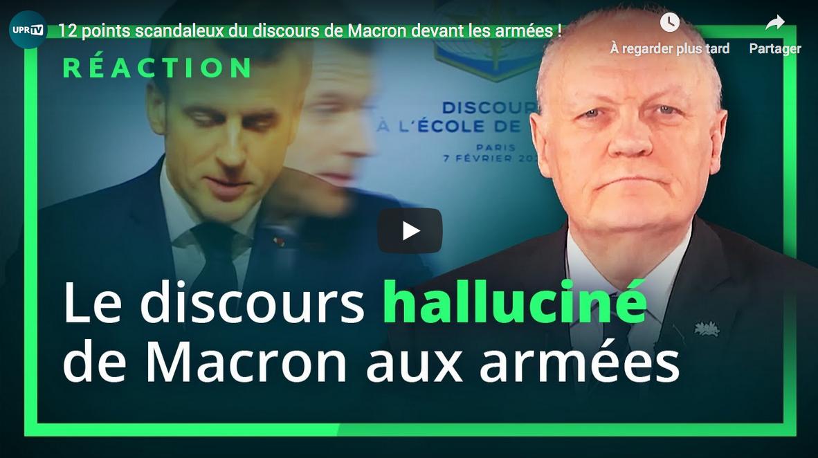 Douze points scandaleux du discours de Macron devant les armées (François Asselineau)