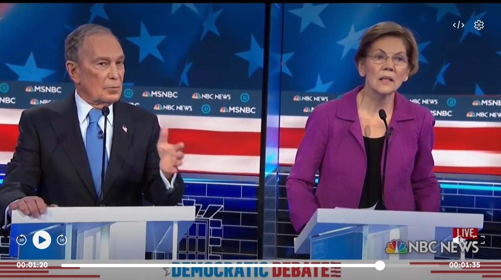 """Un """"milliardaire arrogant"""" : Michael Bloomberg sous le feu des critiques lors de son premier débat de la primaire démocrate (VIDÉO)"""
