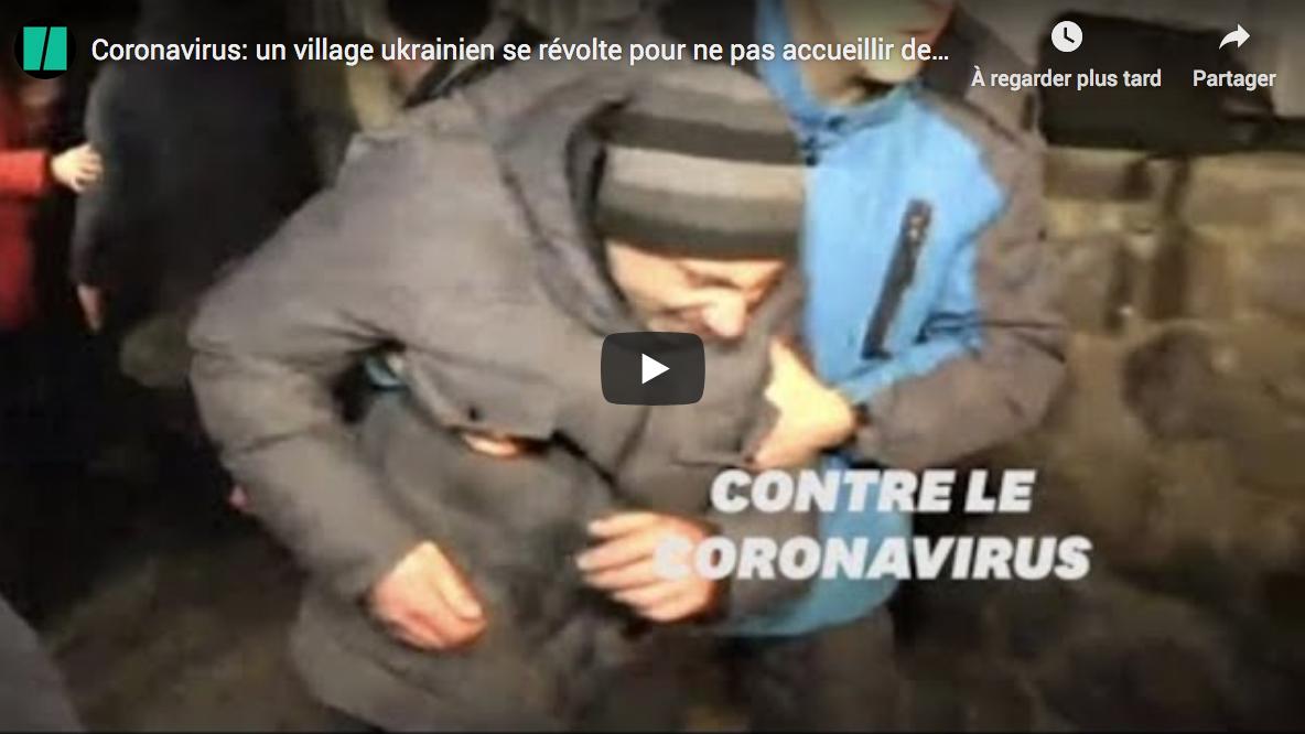 Coronavirus : un village ukrainien se révolte pour ne pas accueillir des personnes venues de Chine (VIDÉO)