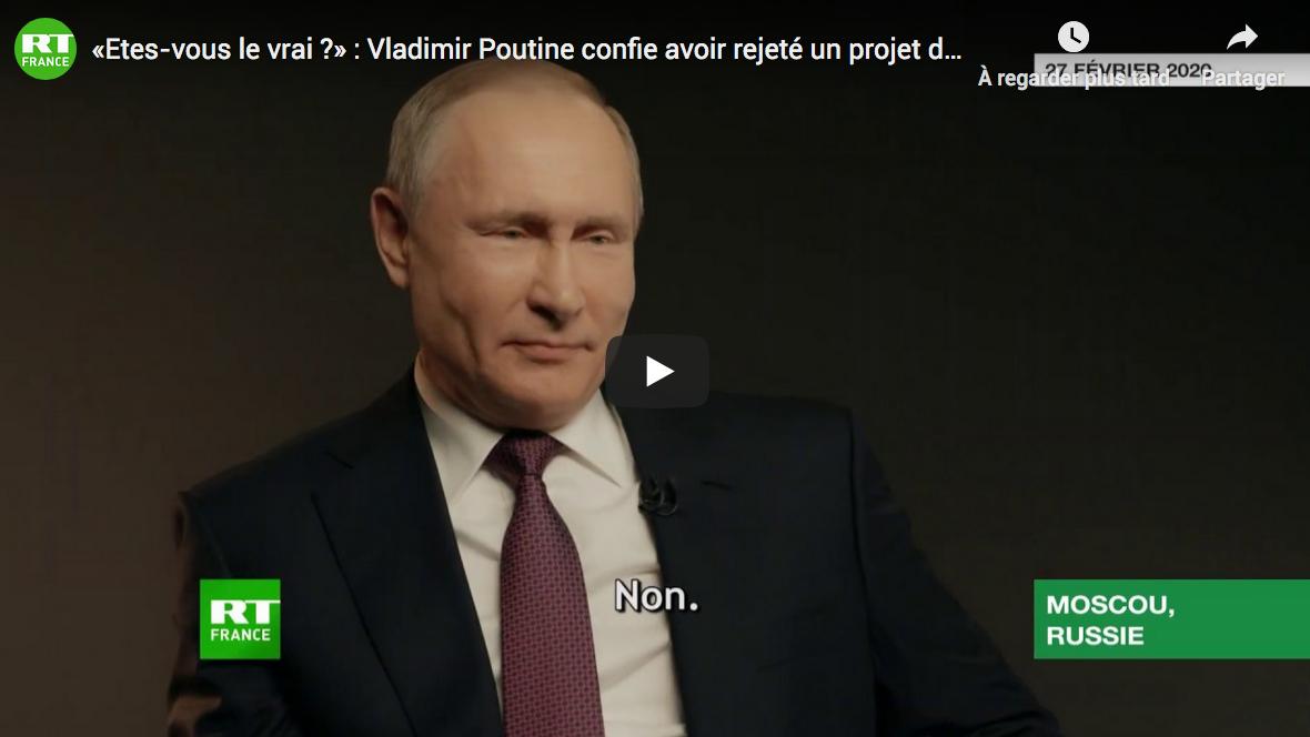 « Êtes-vous le vrai ? » : Vladimir Poutine confie avoir rejeté un projet de sosies (VIDÉO)