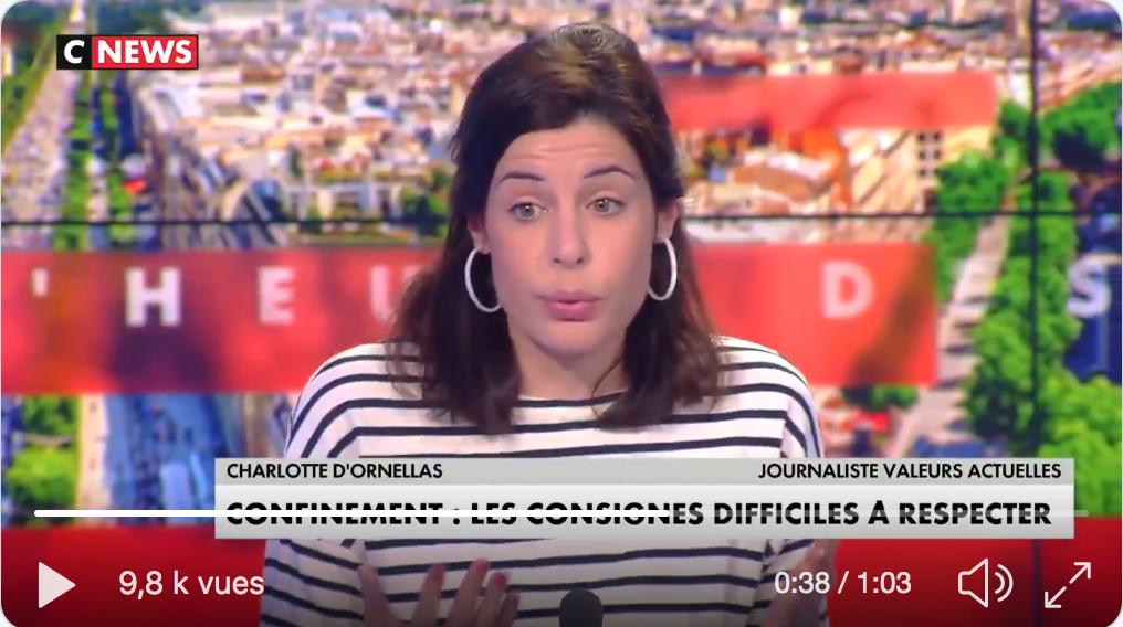"""CNEWS : Devenir un média vraiment pluraliste fait de vous un média """"d'extrême droite"""" selon les médias non-pluralistes (Charlotte d'Ornellas)"""