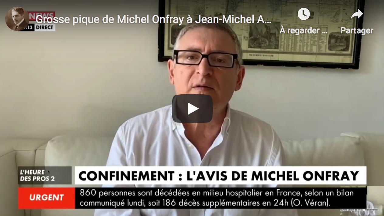 """Grosse pique de Michel Onfray à Jean-Michel Apathie : """"Il n'est jamais en retard d'une bêtise"""""""