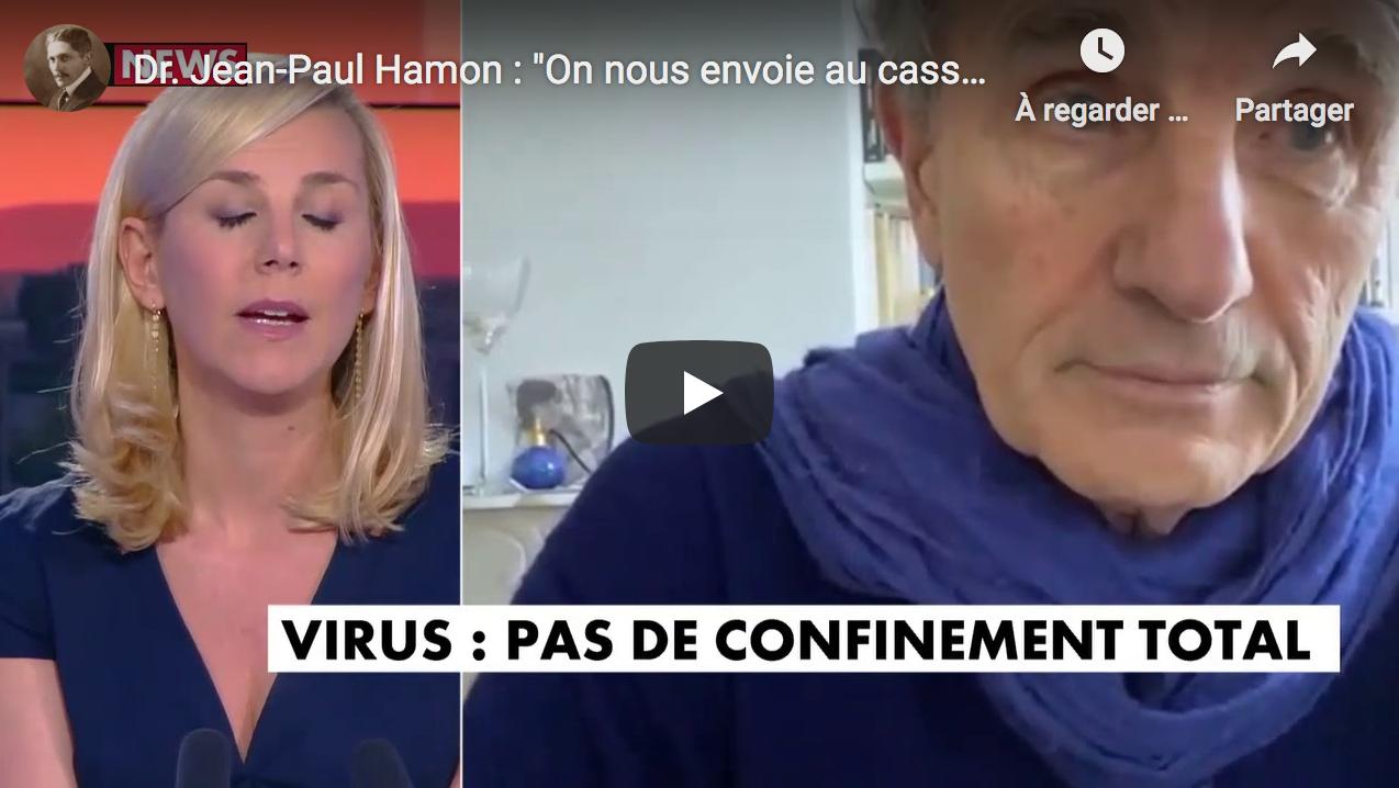 """Dr. Jean-Paul Hamon : """"On nous envoie au casse-pipe avec des masques passoires"""" (VIDÉO)"""