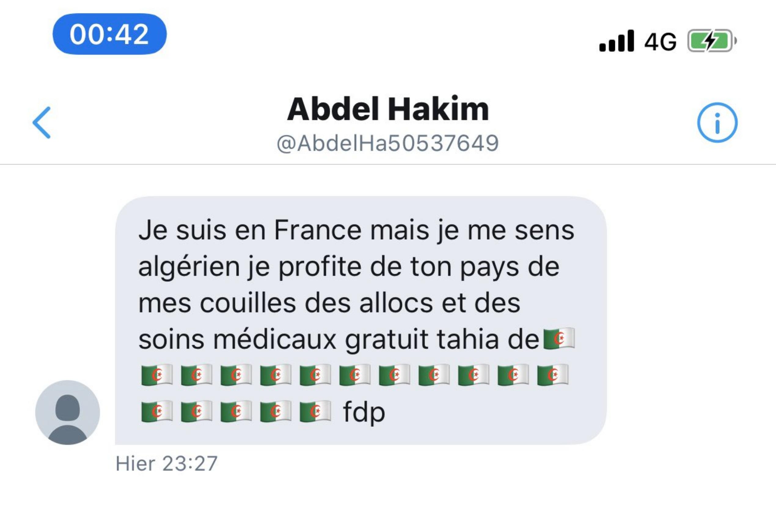 Abdel Hakim a un message pour tous les Français
