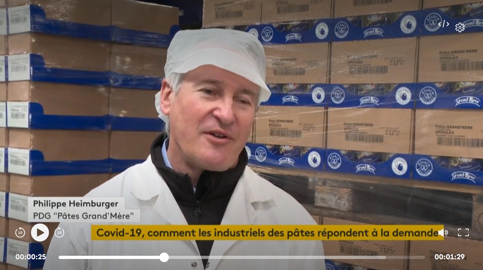 Coronavirus : les fabricants des pâtes tournent à flux tendu