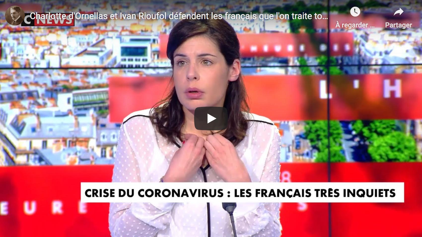 Charlotte d'Ornellas et Ivan Rioufol défendent les Français que l'on traite toujours de complotistes (VIDÉO)