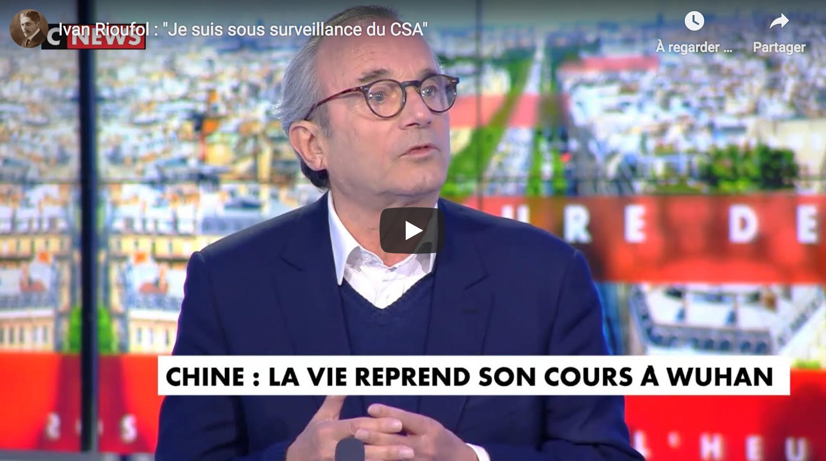 """Ivan Rioufol : """"Je suis sous surveillance du CSA"""" (VIDÉO)"""