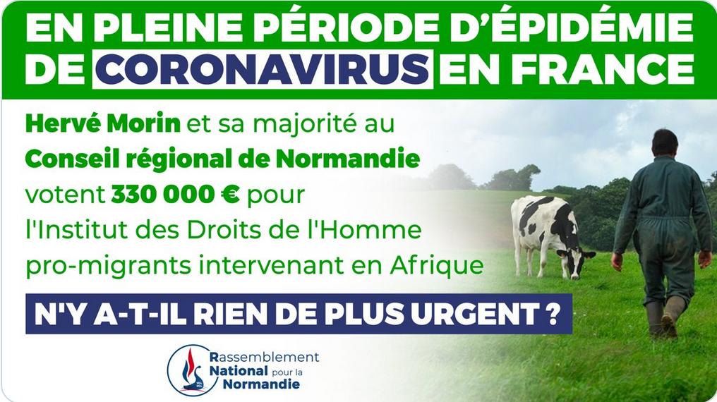 En pleine crise sanitaire / économique française, la Normandie arrose financièrement une ONG immigrationniste