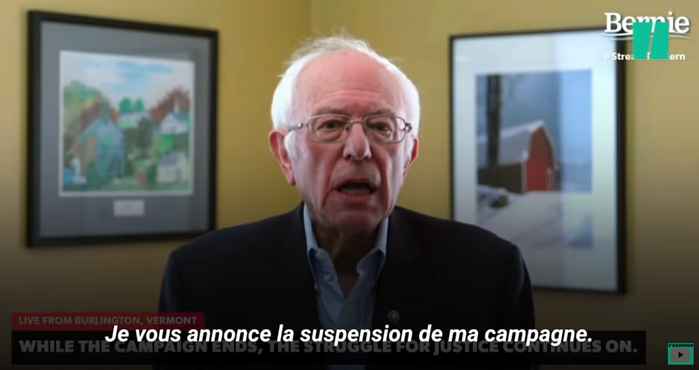 Parti démocrate : Bernie Sanders abandonne la course à l'investiture pour la présidentielle de 2020