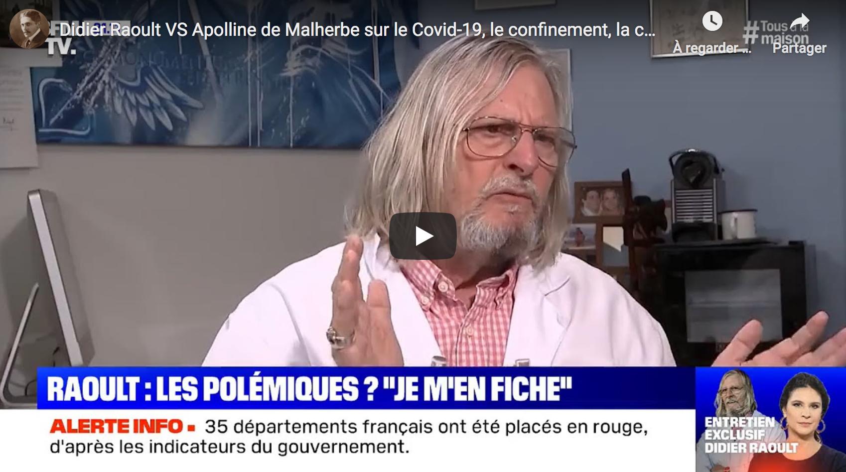"""Didier Raoult : """"Je crois aux contre-pouvoirs"""" (VIDEO)"""