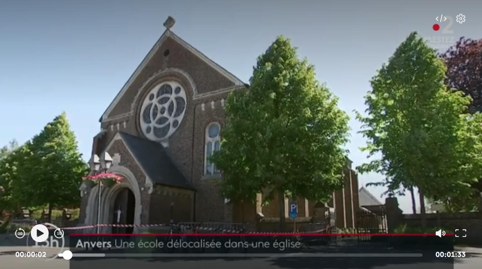 Coronavirus : en Belgique, une église (pas désacralisée) est devenue l'annexe d'une école… (VIDÉO)