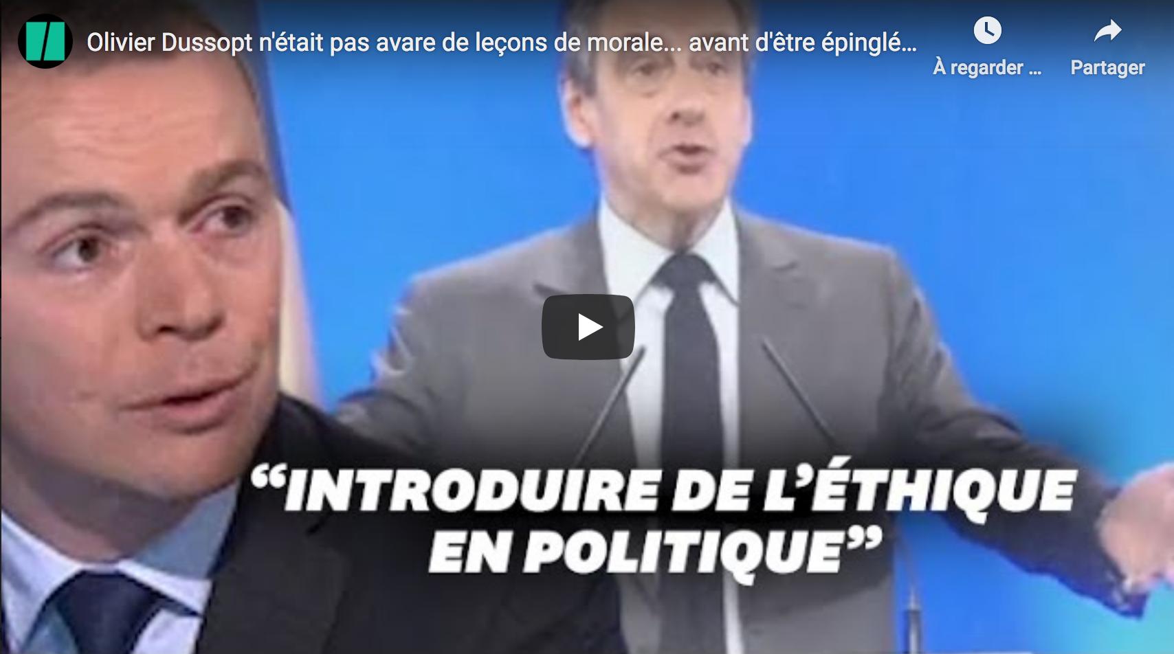Le secrétaire d'État Olivier Dussopt pas avare de leçons de morale… avant d'être épinglé à son tour (VIDÉO)