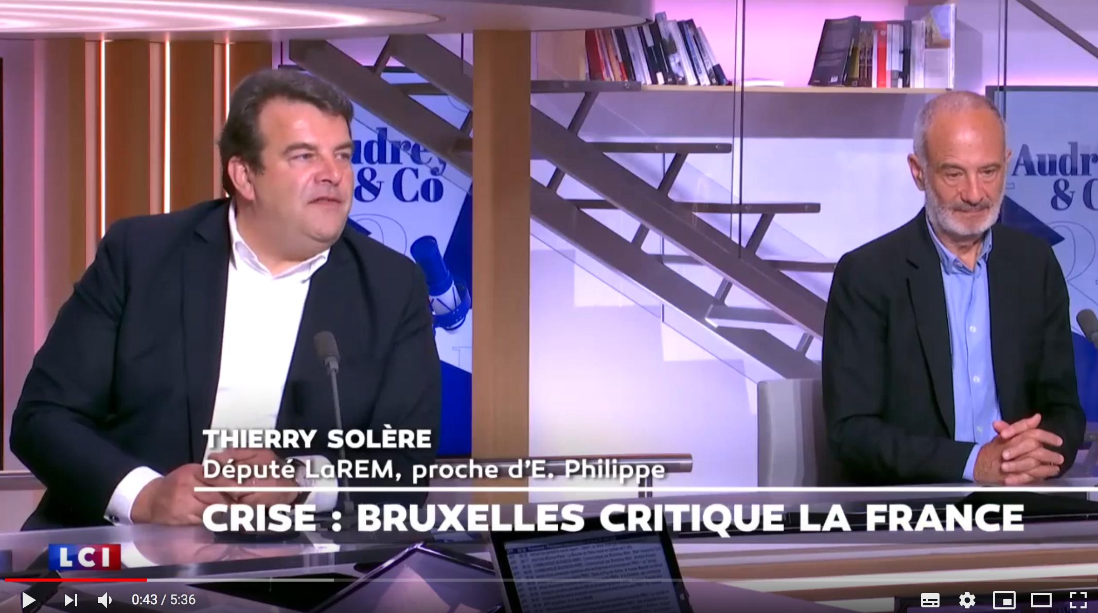 """Sébastien Chenu (RN) recadre Thierry Solère (LREM) : """"Vous êtes schizophrène, vous défendez encore l'UE"""" (VIDÉO)"""