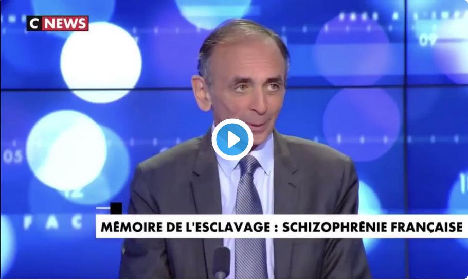 """Éric Zemmour : """"Toutes les civilisations ont été esclavagistes (…) tout le monde a été esclave (…) les Blancs aussi (…) entre l'an 1500 et l'an 1800, ils ont compté 1 290 000 esclaves blancs"""""""