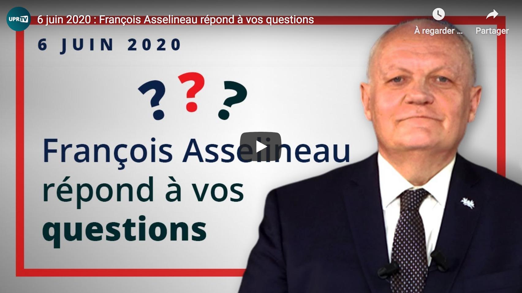 François Asselineau répond aux questions des internautes suite à la polémique (VIDÉO)