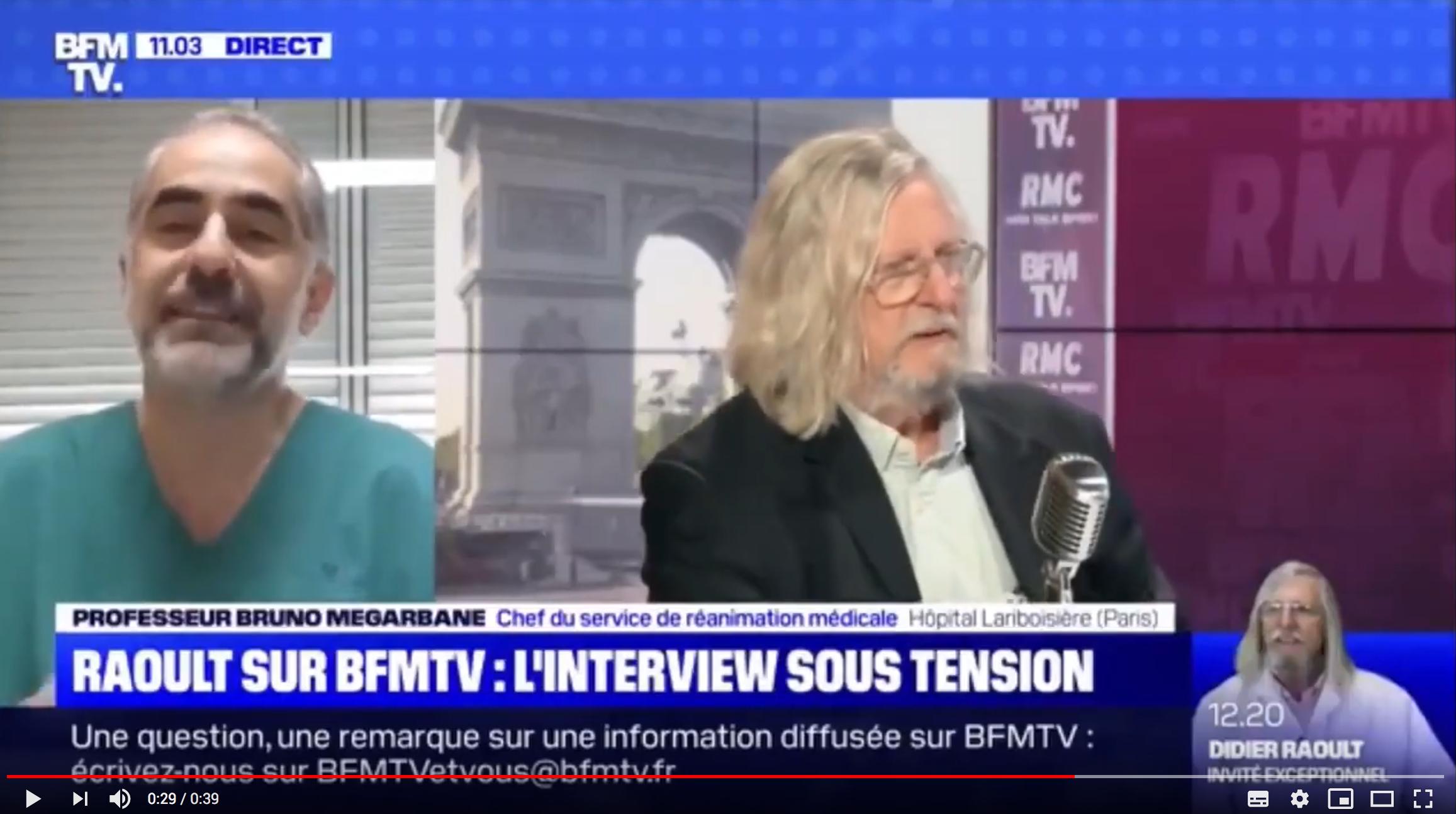 """Pr Bruno Mégarbane : """"Je suis admiratif de la stratégie déployée par Didier Raoult à Marseille"""" (VIDÉO)"""