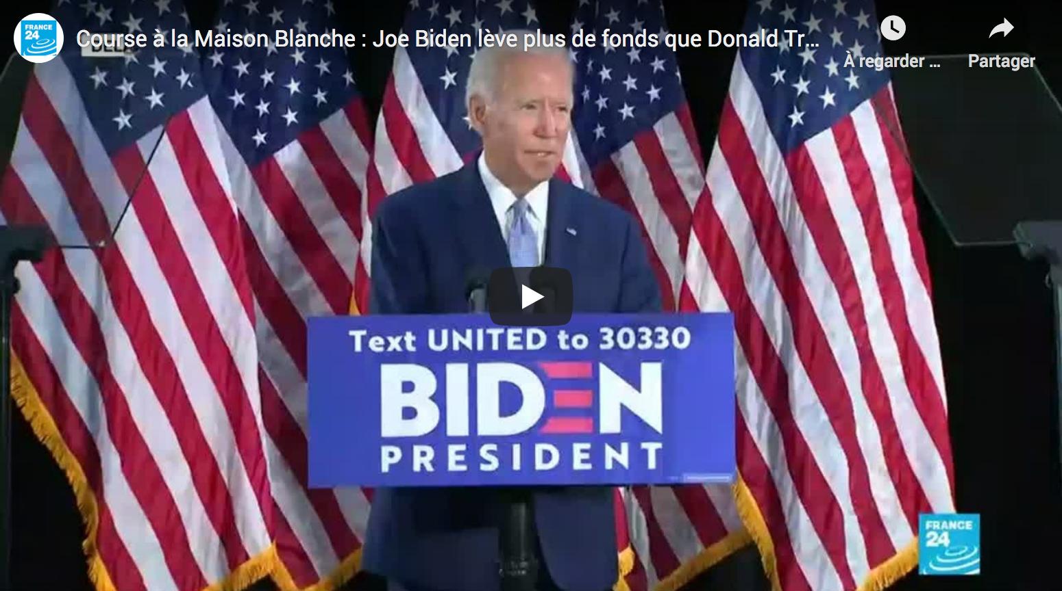 Course à la Maison Blanche : Pour la première fois, Joe Biden lève plus de fonds que Donald Trump