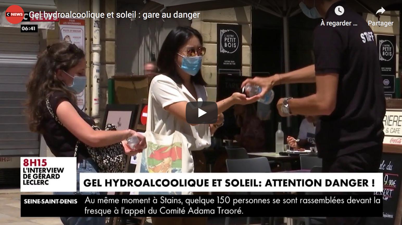Gel hydroalcoolique et soleil : gare au danger !