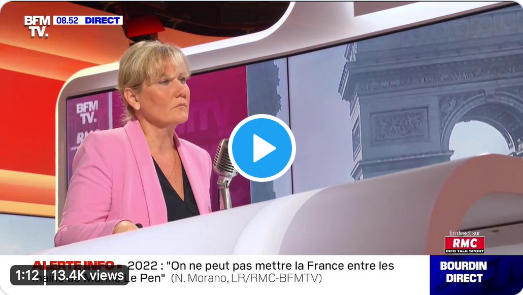 Invasion immigrée, statistiques ethniques, assimilation : Nadine Morano en forme chez Jean-Jacques Bourdin (VIDÉOS)