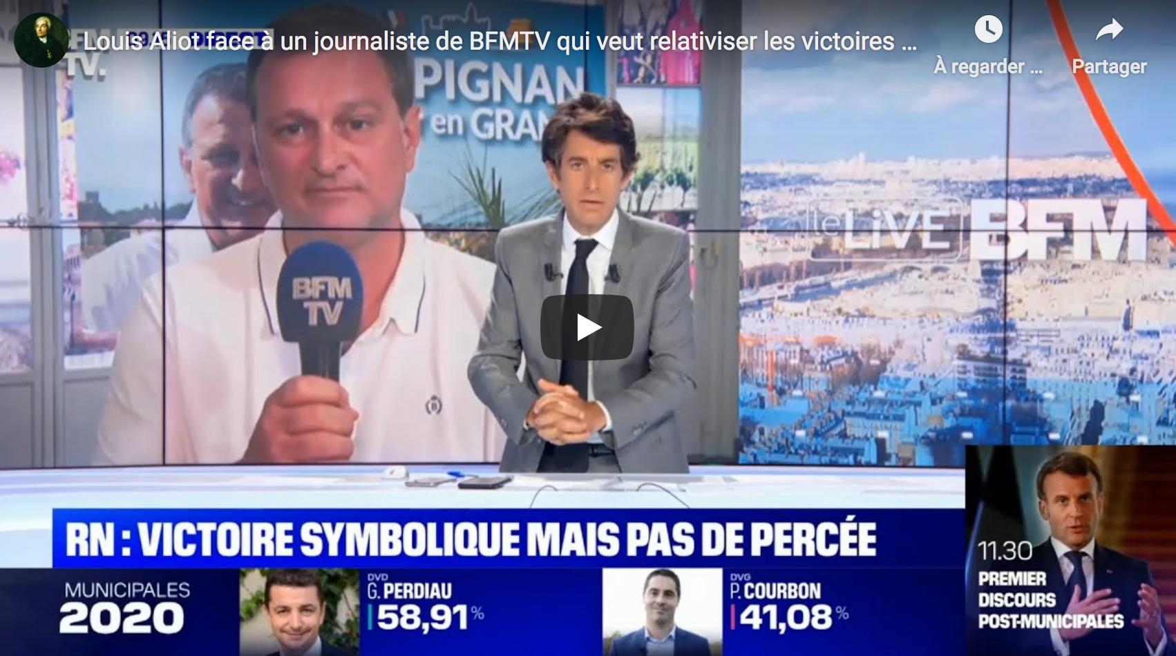 Louis Aliot face à un journaliste de BFMTV qui veut relativiser les victoires du RN… (VIDÉO)
