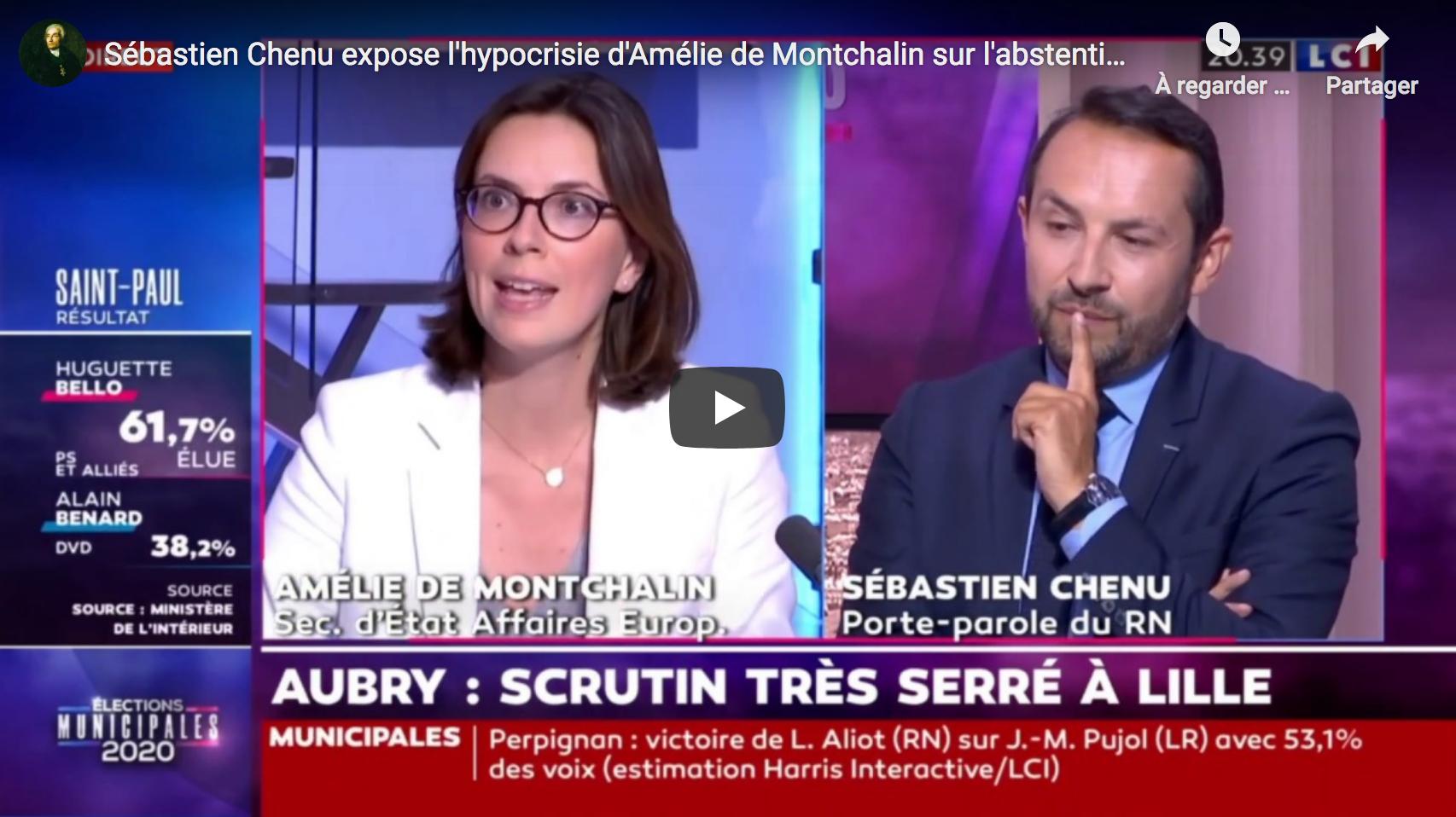 Sébastien Chenu expose l'hypocrisie d'Amélie de Montchalin sur l'abstention (VIDÉO)