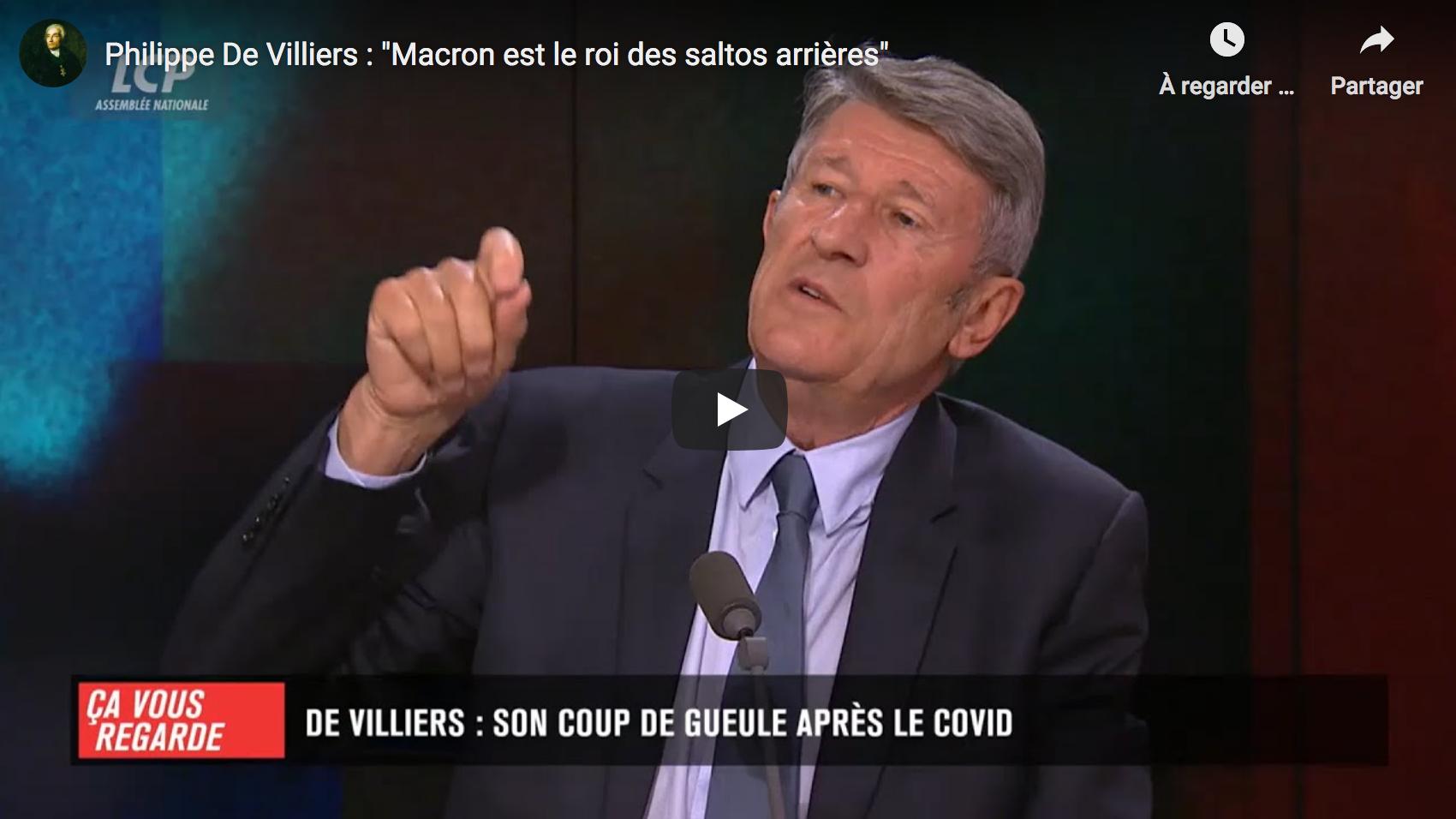 """Philippe de Villiers : """"Macron est le roi des saltos arrières"""" (ENTRETIEN)"""