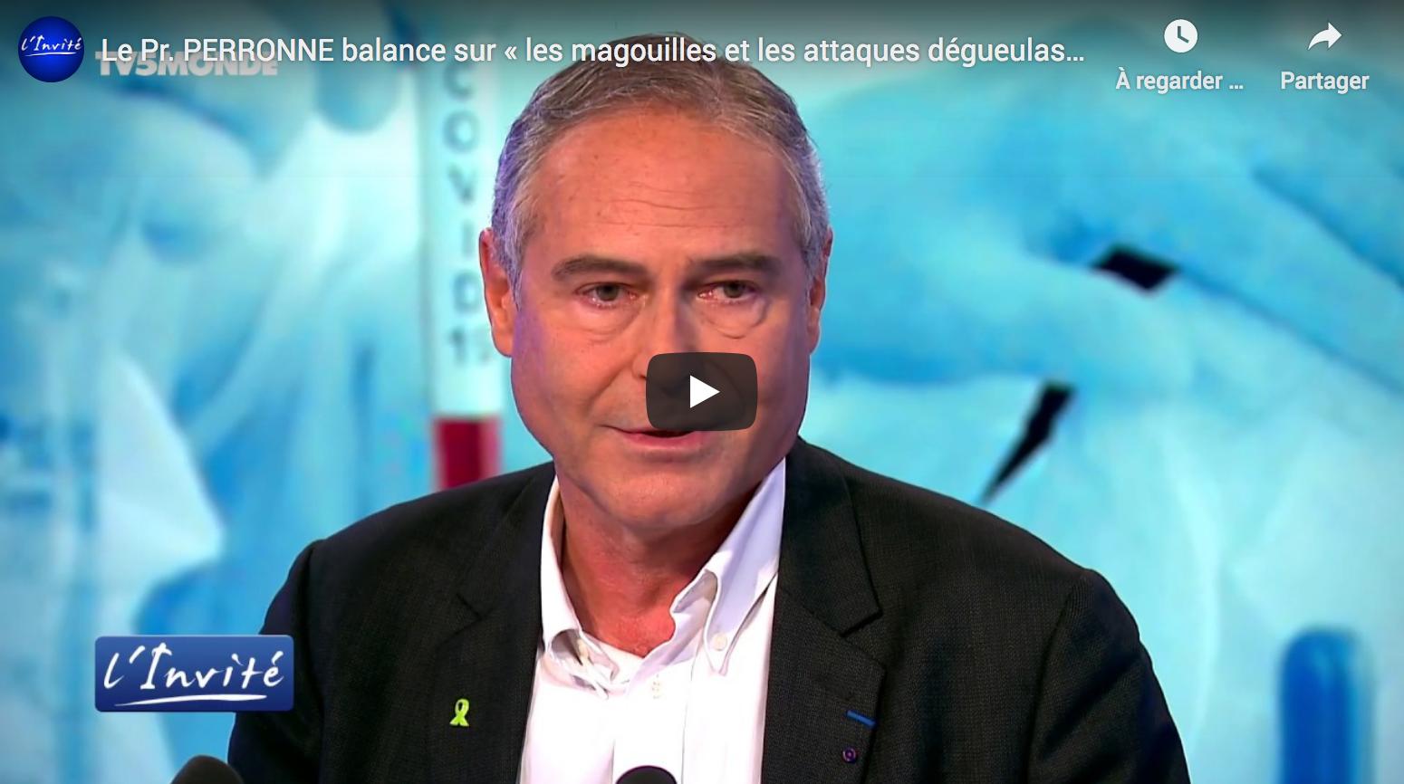 Le Pr Christian Perronne balance sur « les magouilles et les attaques dégueulasses contre le Pr Raoult » (VIDÉO)