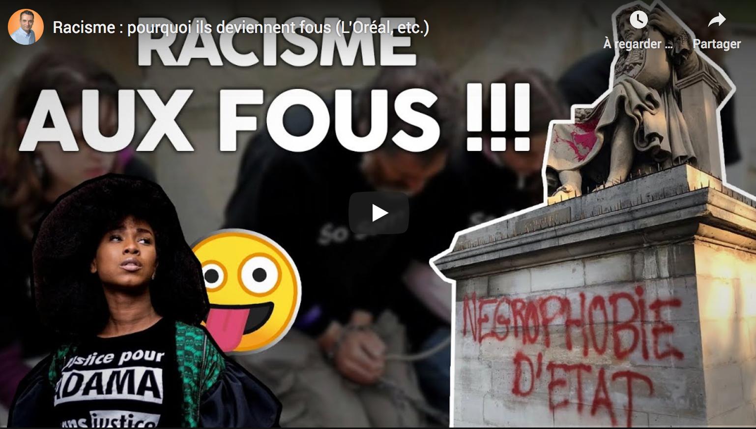 """""""Racisme : pourquoi ils deviennent fous"""" (Florian Philippot)"""