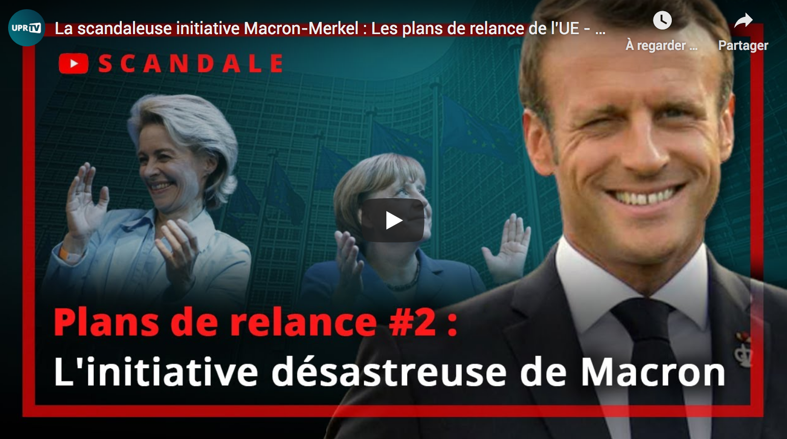 La scandaleuse initiative Macron-Merkel : Les plans de relance de l'UE (François Asselineau)